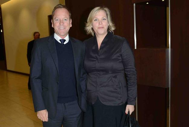 Actor Kiefer Sutherland came into the world with twin sister Rachel.