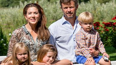 Princess Mary and family play in summer sun