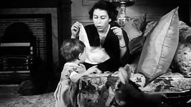 Vintage footage of Queen Elizabeth's family released