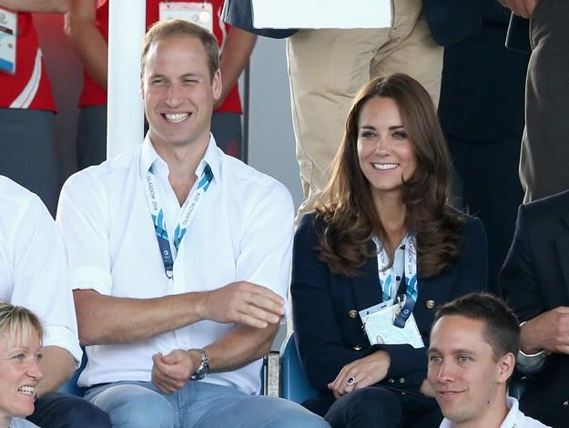 The Duke and Duchess of Cambridge were all smiles as they watched Scotland play Wales at the Glasgow National Hockey Centre.
