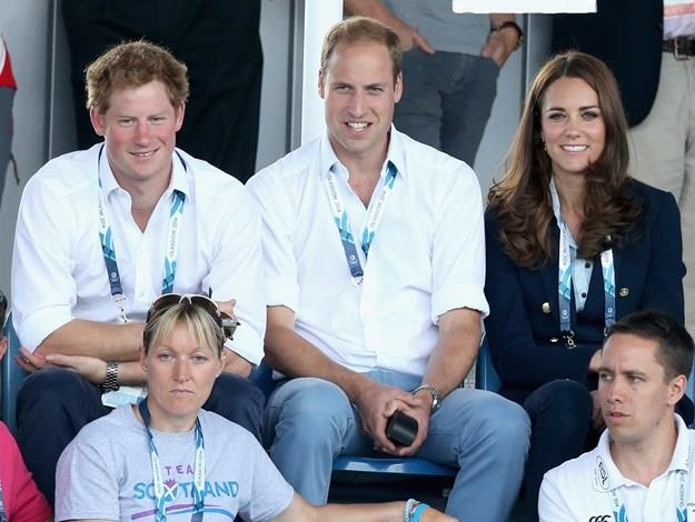 The royal couple were also joined by Prince Harry.