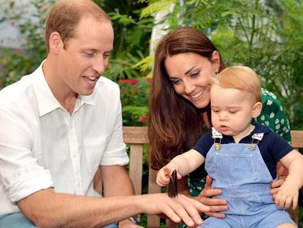 The royal family enjoy some time together. Picture: John Stillwell