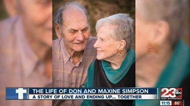 A real life love story: A couple married 62 years die together