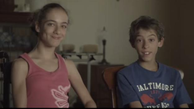 Lia Sintras and her twin brother Andrew.