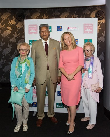 The stars of the day Peggy Ritchie and Betty Ireland with Dilmah's Merrill J. Fernando and Editor-in-Chief Helen McCabe.