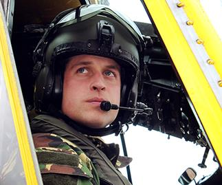 Prince William flying helicopter