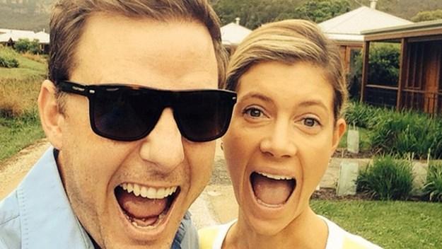 Ben Fordham and Jodie Speers