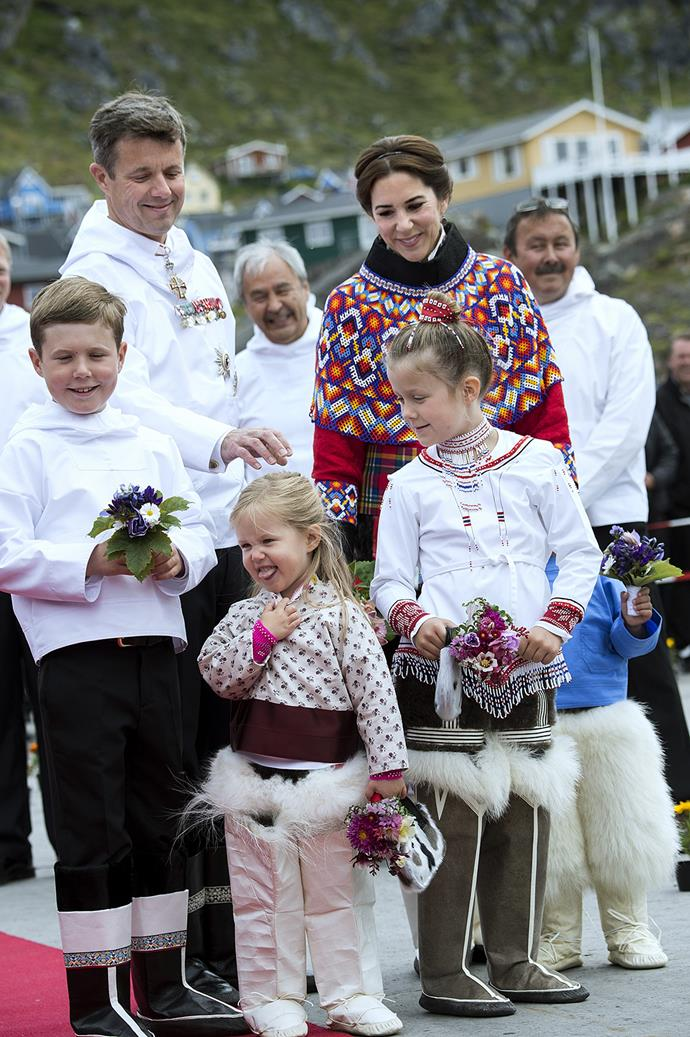 Princess Josephine looking super cute with the rest of her royal family.