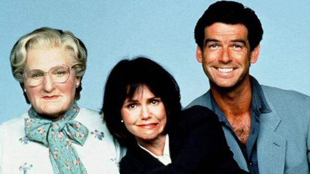 Williams played a cross-dressing nanny in the 1993 children's classic *Mrs. Doubtfire* alongside Sally Field and Pierce Brosnan.