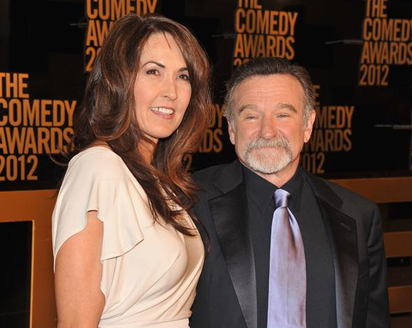 """Robin Williams and wife Susan Schneider attended the Comedy Awards in 2012. Schneider is said to be """"utterly heartbroken""""."""