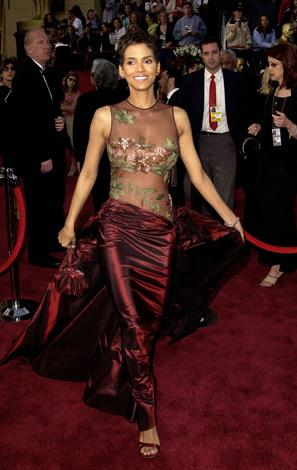 Donning perhaps her most memorable look ever Halle wore this Elie Saab gown when she accepted her Oscar for Monster's Ball in 2002.