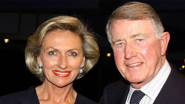 Neville Wran and his wife Jill in 2001.