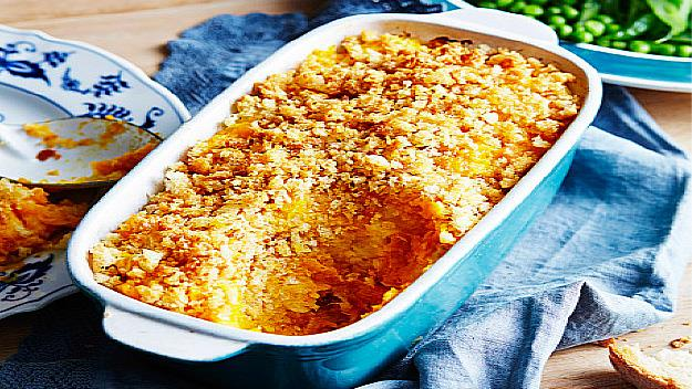 Parsnip and pumpkin bake
