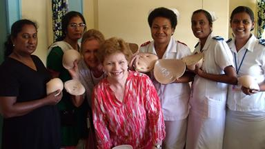 Prosthetic breasts for breast cancer survivors in Fiji