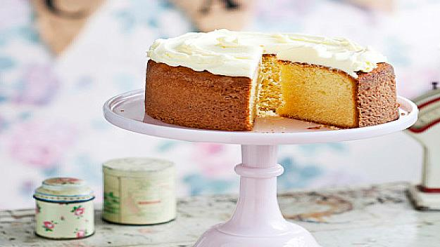 "This [classic butter cake](https://www.womensweeklyfood.com.au/recipes/simple-butter-cake-27244|target=""_blank""), smothered in butter cream icing, will satisfy your sweet tooth. Best served with a cup of tea or coffee for a simple afternoon treat."
