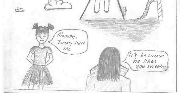 domestic violence cartoon