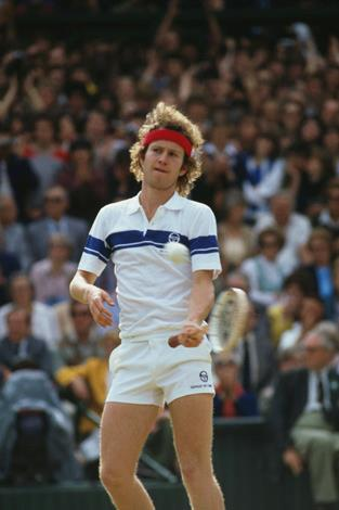 """You couldn't have a list of tennis tantys and not include John 'You cannot be serious' McEnroe. His infamous incident during his first round match against Tom Gullikson at Wimbledon in 1981 was sporting dummy spit at its best. Furious that the chair umpire called a ball out McEnroe entered in a hysterical tirade shouting """"That ball was on the line! Chalk flew up! It was clearly in! You guys are the absolute pits of the world""""."""