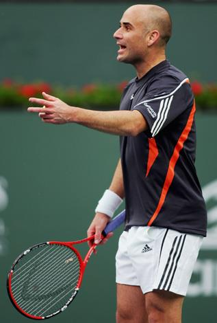 """In the 2006 Legg Mason Tennis Classic in Washington Andre Agassi slammed his racquet down after an upset by Italian Andrea Stoppini. """"Breaking a racket for me has always been a sign of caring about something that you can't quite get over the hump with... I was very frustrated,"""" Agassi later told ESPN of the outburst."""