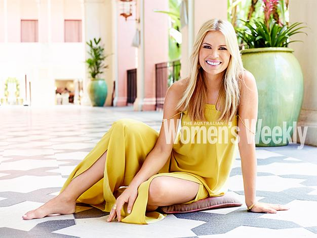 """I feel blessed, I feel relieved, I feel excited,"" says Sonia Kruger, photographed at the Royal Hawaiian Hotel in Waikiki. Photography by Michelle Holden. Styling by Rebecca Rac."
