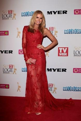 Mornings co-host Sonia Kruger at the Logies this year.