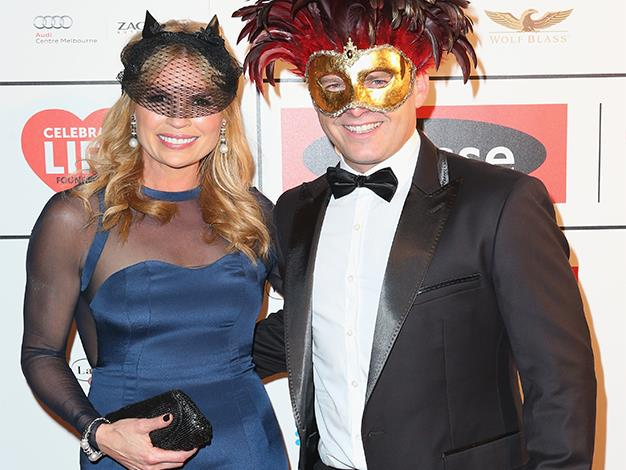 Sonia Kruger and Karl Stefanovic attend the Celebrate Life Ball at Grand Hyatt Melbourne on June 13, 2014 in Melbourne, Australia.
