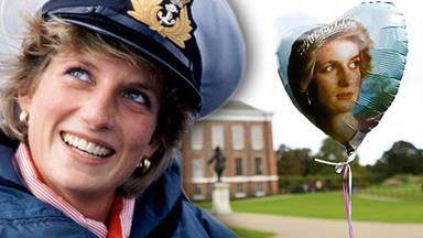 Touching tributes to Diana 17 years on