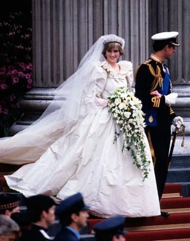 Diana and Charles on their wedding day.