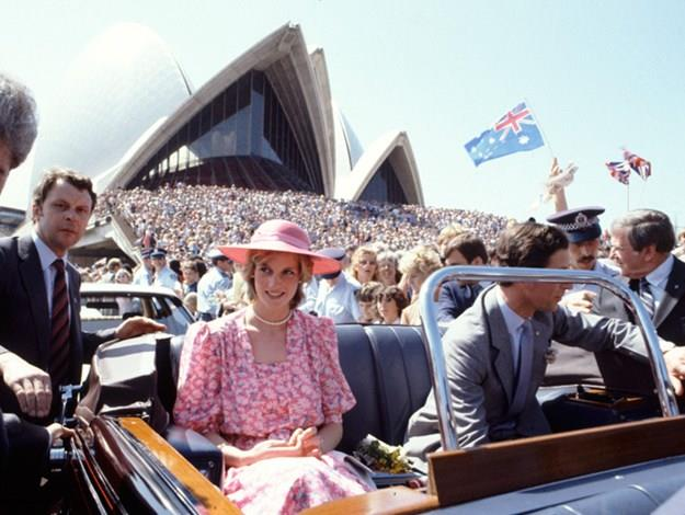 Pretty in pink at the Sydney Opera House in 1983.