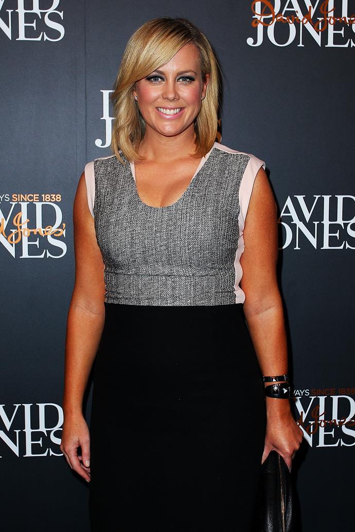 Samantha Armytage arrives at the David Jones A/W 2013 Season Launch last year.