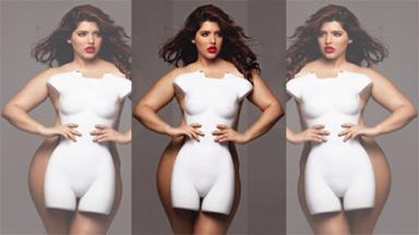"Curvy model slams term ""plus size"""