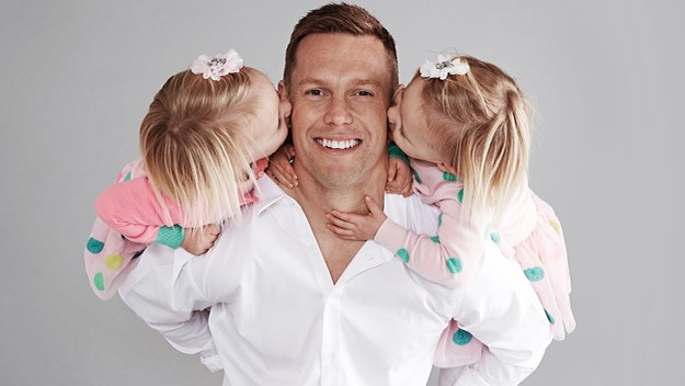 Sam Mitchell and daughters