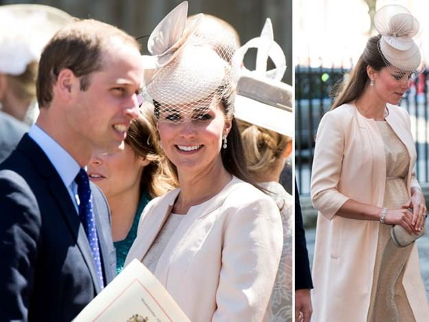Kate at her last public appearance before she gave birth to Prince George.