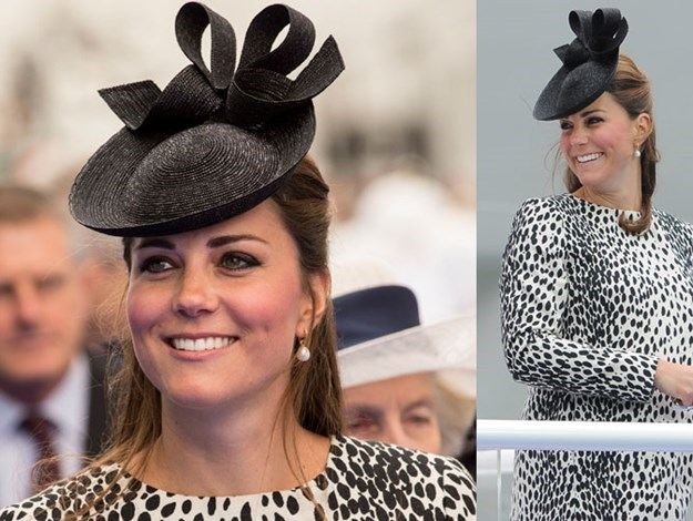 Kate at her last solo royal engagement on June 13 before giving birth to Prince George.