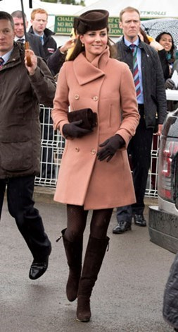 Duchess Kate at the Cheltenham Festival in March 2013.