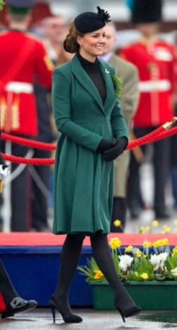 Kate at a St Patrick's Day parade in March.