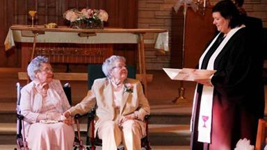 Lesbian couple married after 72 years together