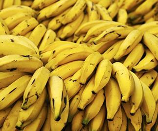 bananas contain high potassium, stock image