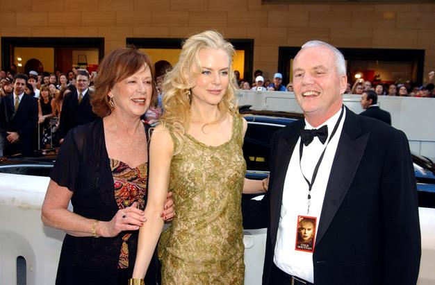 Janelle Kidman, actress Nicole Kidman and her father Antony Kidman arrive for the Australian premiere of the film 'Cold Mountain' in 2003.