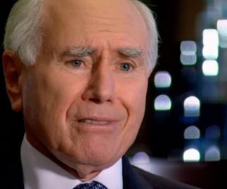 John Howard in an emotional interview on Channel 7's Sunday Night program