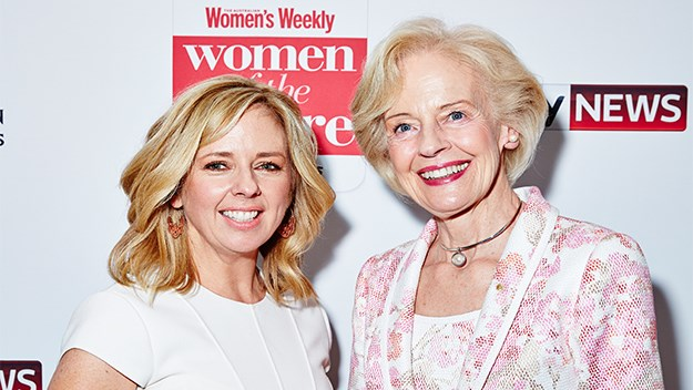 Editor-in-chief, Helen McCabe with Dame Quentin Bryce, former Governer General fo Australia