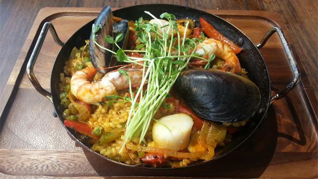 Barcelona's famous paella.