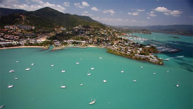 The town of Airlie Beach.