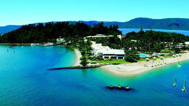 An aerial view of Daydream Island.