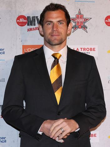 Luke Hodge is the skipper of the Hawthorn FC. Luke has enjoyed an amazing career with an impressive 249 games under his belt and… oh who cares, just LOOK at those baby blues!