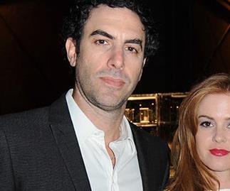 Isla Fisher and Sacha Baron Cohen.