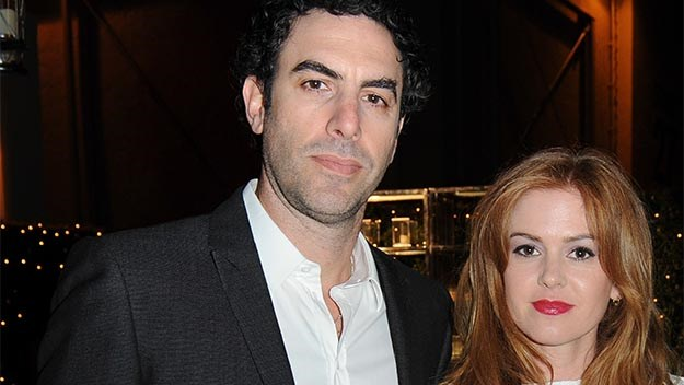 Isla Fisher and Sacha Baron Cohen.