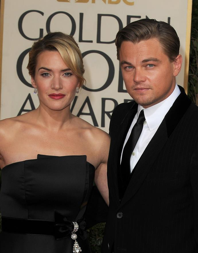 Kate and Leonardo arrive at the 66th Annual Golden Globe Awards.
