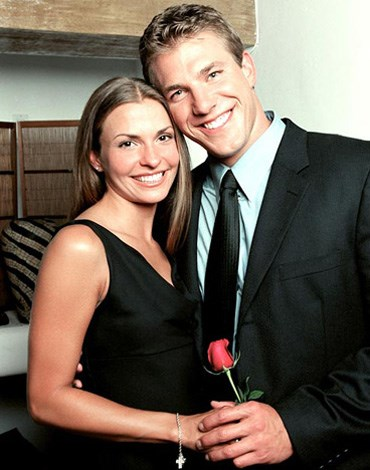 **The Bachelor US Season 2: Aaron Buerge, Helene Eksterowicz:** The second bachelor, Aaron Buerge was the first Bachelor to propose to his TV love, Helene with a ring he bought himself. The couple broke up a short time later and the ring was reportedly sold on Ebay.