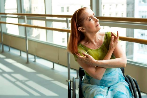 """Raw model, Kitty Lunn: """"I was a professional dancer prior to acquiring my disability and I have found that the dancer inside me, the thing that made me want to become a dancer in the first place doesn't care that I use a wheelchair. She just wanted to find a way to keep dancing and was kind enough to wait for me to catch up with her."""" PHOTO: Facebook."""
