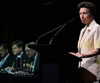 Princess Anne at the 26th Royal Agricultural Society of the Commonwealth conference